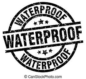 waterproof round grunge black stamp