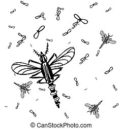 Mosquitos Background - An image of a mosquito background.