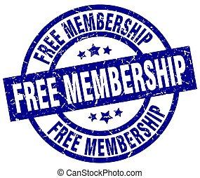 free membership blue round grunge stamp