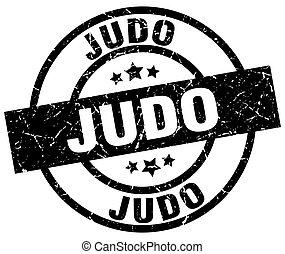 judo round grunge black stamp