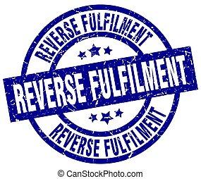 reverse fulfilment blue round grunge stamp