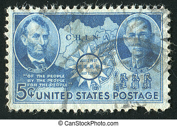 stamp - UNITED STATES - CIRCA 1942: stamp printed by United...