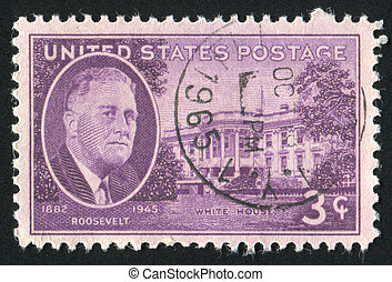 stamp - UNITED STATES - CIRCA 1945: stamp printed by United...