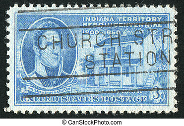 stamp - UNITED STATES - CIRCA 1950: stamp printed by United...