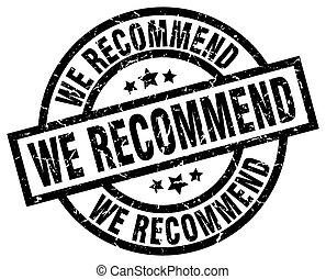 we recommend round grunge black stamp