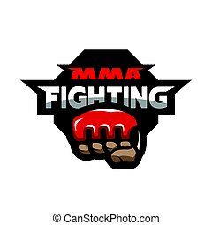 MMA fighting logo. - MMA fighting. Mixed martial arts logo