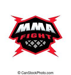 Mixed martial arts logo. - MMA fight. Mixed martial arts...
