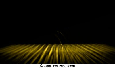 abstract golden grid ray and light,fiber optic,web tech...
