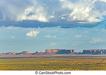butte in monument valley - beautiful Merrick butte in...