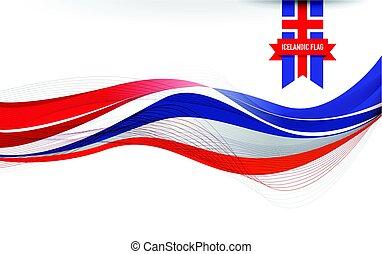 Iceland flag background