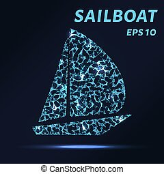 A sailboat consists of points, lines and triangles. The...