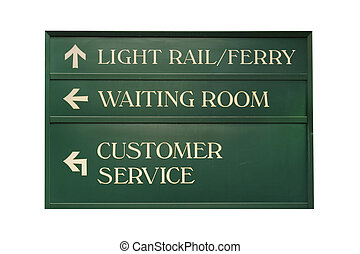 Hoboken terminal - Isolated information sign in Hoboken rail...