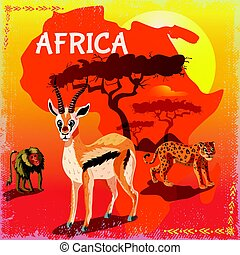 Cartoon African Fauna Template