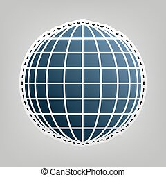 Earth Globe sign. Vector.