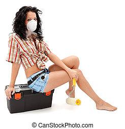 Repair woman