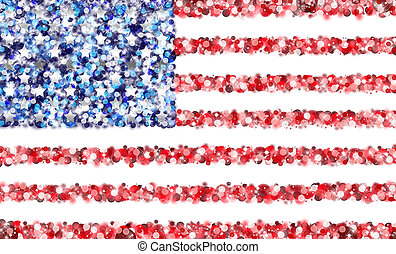 United States Flag - An abstract illustration of the United...