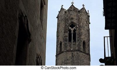 Gothic Quarter of Barcelona. Spain. - Gothic Quarter of...