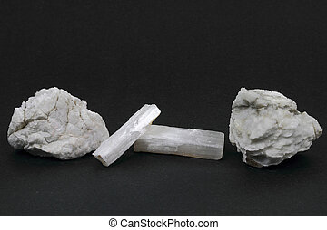 Gypsum - The picture of different type gypsum stones over...