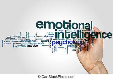 Intelligence word cloud concept on grey background.