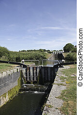 Caen Hill Locks, Devizes - The Caen Hill locks, on the...