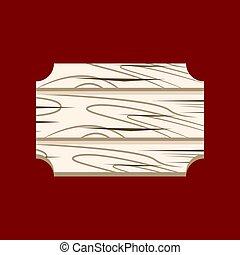 Wood Sign cartoon - Wood Sign icon cartoon isolated on white...