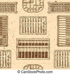 Pattern with different abacus - Seamless pattern with...