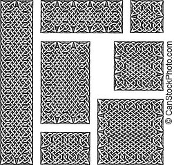 Celtic seamless pattern - Seamless celtic knots patterns in...