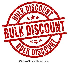 bulk discount round red grunge stamp