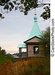 Chapel on island Valaam - Small chapel on island Valaam at a...