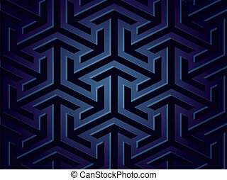 Seamless background of geometric shapes Vector - Seamless...