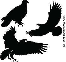 eagle vector silhouettes