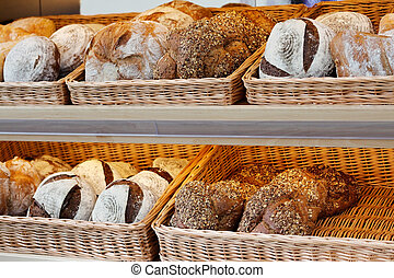 artisan bread on the shelves - Artisan bread on the shelves...