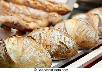 fresh baked artisan bread - Fresh baked artisan bread at the...