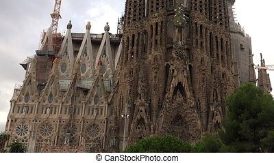 Sagrada Familia Cathedral In Barcelona. Spain. - Sagrada...