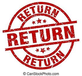 return round red grunge stamp
