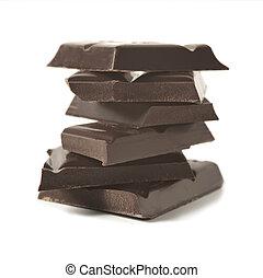 Dark chocolate - dark chocolate stacked on white