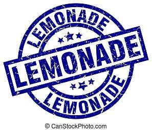 lemonade blue round grunge stamp