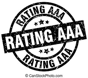rating aaa round grunge black stamp