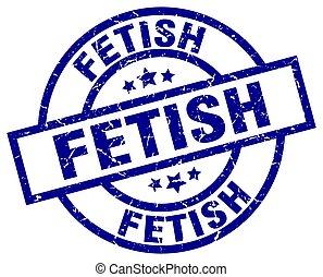 fetish blue round grunge stamp