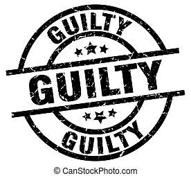 guilty round grunge black stamp