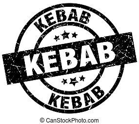 kebab round grunge black stamp