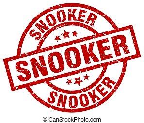 snooker round red grunge stamp