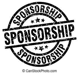 sponsorship round grunge black stamp