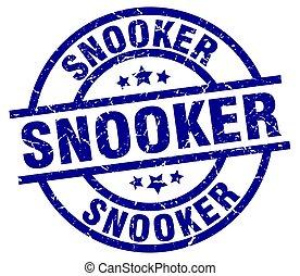 snooker blue round grunge stamp