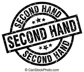 second hand round grunge black stamp