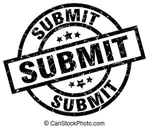 submit round grunge black stamp