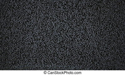 TV static noise - no transmission signal in television...