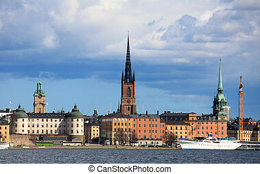 View on the center of Stockholm
