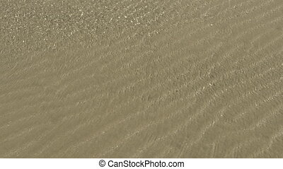 clear water on the beach - clear water on the sandy beach