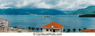 The island near Tivat, Kotor Bay, Montenegro